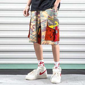iiDossan Camo carga Shorts Homens Streetwear Camuflagem Calças 2020 Novo Muti-Pockets Trabalho Shorts Mulheres curto Moda Pants