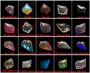 180 unidades / lote 38MM Almond Cristal AB cores Prism / Crystal ornamento / Crystal Pendant frete grátis