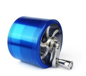 Cigarette grinder New metal cigarette grinder 55mm zinc alloy 4-layer hand-operated cigarette grinder Smoking Accessories