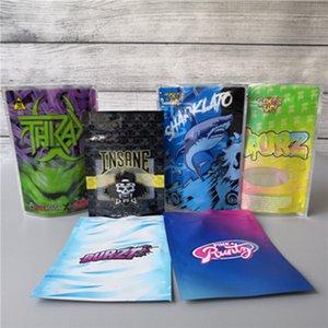 RUNTZ Joker безумного BAG 3.5G ZOURZ SHARKLATO BURZT THKAX пахнет Proof Сумки Vape Упаковки для сухой травы Испарителя с 6kinds майларового мешка