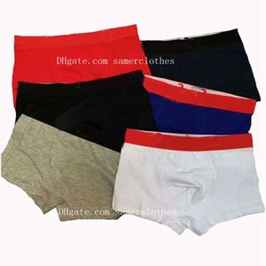 Мужчины белье Boxer Brief шорты Сексуальное нижнее белье Mens Casual Short Man дышащий белье Короткие мужские трусы мужские cueca боксер Homme