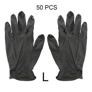 Luvas 50PCS descartáveis luvas de látex de borracha de protecção de borracha nitrílica Para o escritório Kitchen Garden Household Cleaning Glove