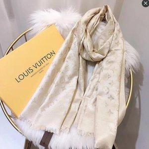 Atacado Moda luxurys Lenço de seda Pashmina por Mulheres Designer Verão Scarf Mulheres Long Xaile Enrole 180x70cm
