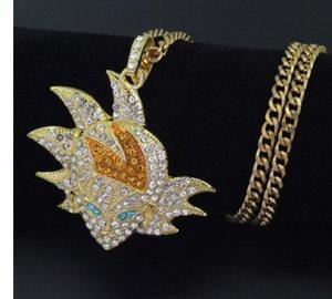 fashion yellow gold filled carton pendant women's nekclace up-market 18c