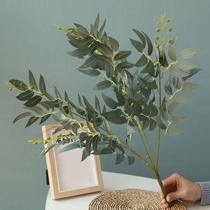 Искусственные Листья Ивы Зеленый Белый Поддельные Растения DIY Искусственный Букет Искусственная Листва для Дома Свадьба Лес Украшения Партии