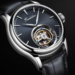 Tourbillon Guarda GUANQIN orologio originale di scheletro meccanico dello zaffiro Mens Watches Top marca dell'orologio di lusso degli uomini Relogio Masculino CJ191213