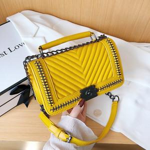 2020 New PU Leather Shoulder Handbag Fashion Luxury designer Rhombus Bag Shoulder Messenger Bag Handbag Adjustable Shoulder Strap
