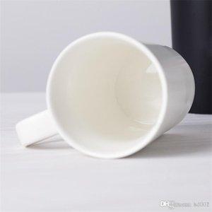 Dia Porcelain 7 8dyC1 Copa cerâmica pura amantes cor de água geada canecas Originalidade presente Tumbler Capa Colher Terno dos Namorados