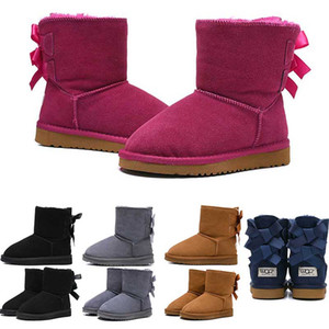 2020 جديد أحذية أطفال الشتاء التمهيد الكلاسيكية الشتاء الثلوج أحذية الثلوج فتاة بووتي الأزياء الكاحل زائد القطن حافظ حجم الدافئة 26-35