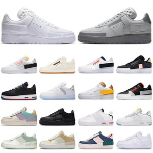 2020 nike air force 1 react type n354 af1 shadow forces hombres mujeres zapatos para correr triple blanco gris Fog Sail Gum Light Bone hombres entrenadores zapatillas deportivas