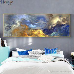 ZYXIAO пейзаж абстрактный облака картина маслом на холсте профессиональный художественный плакат без рамы стены картину для гостиной Диван домашнего декора ys0025