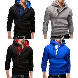 S-6XL Oversize Side Zipper Hoodies Homens Big Men bolso camisola manga comprida Jacket Primavera Man Sportswear Knitwear Casual