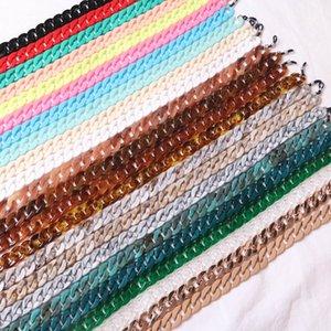 20 couleurs Vintage Lunettes de lecture corde acrylique Antislip Eyewears cordon Porte-Longe Autres accessoires de mode attente sangles Eyewear Retainer
