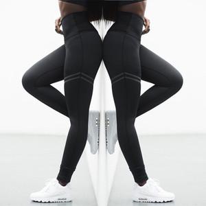 Avrupa ve Amerika Birleşik Devletleri patlama modelleri yüksek bel çift halkalı düz yoga pantolon sıska spor bayanlar tozluk offset offset