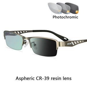 Gafas de lectura Business Sun Transición Fotocromáticas los hombres de los hombres de las mujeres Hipermetropía Presbicia dioptrías de cristal 0,25 1,0 1,5 2,0