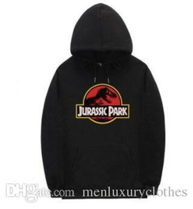 Jurassic Park Mens скейтборд Толстовка с капюшоном вскользь Hiphop Street Толстовка Дизайнера одеждой Tops