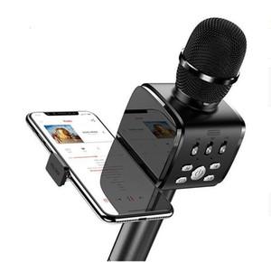 2020-New Bluetooth Karaoke Microphone JR-MC3 Portable Handheld Wireless Karaoke Mic Speaker Machine for iPhone Samsung PC All Smartphone