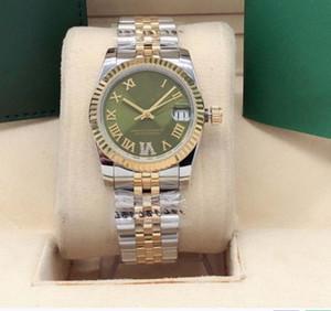 Lady Automatic Mechanical Watch.m Log Roma Broca de 6 bits 316 Fine Aço 31mm Casual Moda Joker Assista 2813 Movimento ...