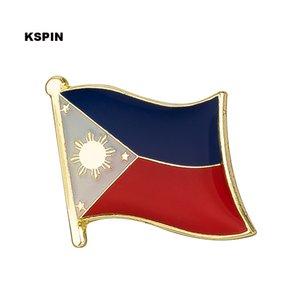 Bandera de Filipinas Perno de la solapa Bandera Insignia Pernos de solapa Insignias Broche KS0059