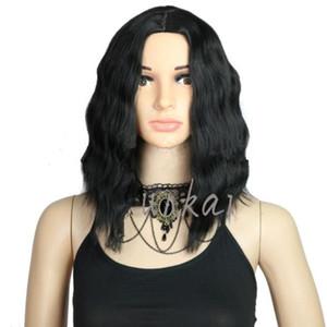 Court bouclés de dentelle cheveux dame synthétique perruques pour les femmes noires Bob Wavy Lace Front perruque avec bébé cheveux FZP183