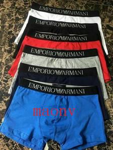 2020 Mode-Muster Homosexuell Hosen Mann Underpanties Sexy Unterwäsche Herren-Unterwäsche Baumwolle Unterwäsche Shorts Pattern Male Boxershorts