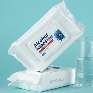 75% de desinfecção álcool toalhetes descartáveis mão Wipes pele Bactérias limpeza Brinquedos Desinfecção Wet Wipes álcool Cotton Pieces