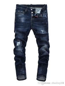 2019 2019 Avrupa ayakta erkek kot pantolon, erkek kot pantolon, bir çift skinny jeans ve siyah işlemeli kafatasları V29 a1 3d 3d