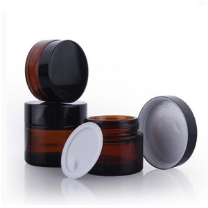 5g 10g 15g 20g 30g 50g 100g Amber Glass Face Cream Jar Refillable Bottle Cosmetic Makeup Storage Container With Screw Cap And Liner
