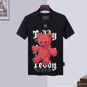 mens designer t shirts Mens Skull T-shirt High Quality printing t shirt Tees designer hats caps men phillip plain Phillip Plain PP yy44