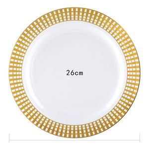 Disposable Thickening Food Grade Imported Plastic Western Plate Set Large, Medium and Small Household Commercial Plate 10PCS
