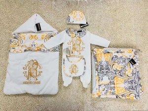 새로운 브랜드 아기 소년 침낭 만화 곰 담요 유아 블루 신생아 파자마 가방 높은 품질 무료 배송
