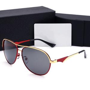Hombre del diseñador gafas de sol Hombre de los anteojos de lujo gafas de sol P cartas muy calidad con la caja