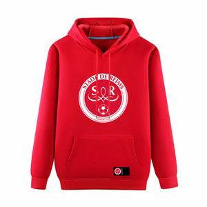 Stade de Reims футбольный пуловер толстовка толстовки взрослый футбольный пуловер с капюшоном зимний тренировочный свитер пальто Мужские толстовки толстовки