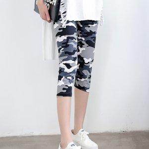 INITIALDREAM Marka Tozluklar Yaz Kadınlar Yüksek Bel Elastik Pantolon Kadınlar Pantolon Baskılı Stretch Tozluklar Calzas Mujer
