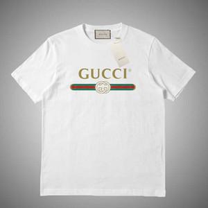 GUCCI estate Designe t-shirt di lusso di marca magliette paio moda selvaggia di vendita di stampa del cotone di marca di tendenza traspirante maglietta della moda