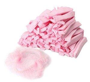 Bonnets de douche jetables non tissés anti-chapeau plissé femmes hommes casquettes de bain pour spa salon de beauté accessoires