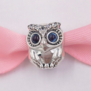 Authentic Style European Beads Jewelry Sparkling Pandora Necklace Charms Fits Sterling Owl & Silver 925 Bracelets Charm 798397NBCB Rgobj