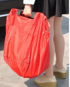 Designer-- 재사용 보따리 쇼핑 식료품 가방 절연 토트 접이식 슈퍼마켓 대형 용량까지 트롤리 보관 가방을 보유