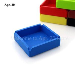 4*4 дюйма красочный квадратный кремний пепельница держатель сигареты пепельница ремесла пепельница лучшее качество подарок ASH006
