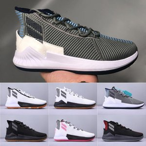 Mens Derrick Rose D 9 zapatos de baloncesto de los deportes Todos zapatilla de deporte del diseñador de la estrella deportes de alto corte 40-45