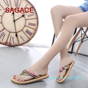Women Fashion Summer Flat Flip Flops Sandals Loafers Bohemia Shoes s03