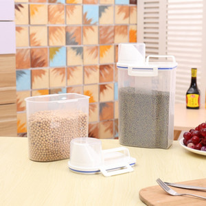 1.5 2L Plastic Food Rice Storage Box Case Container Organizer Kitchen Grain Cereal Dispenser Storage Bins