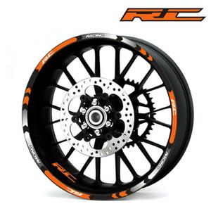 Motocicletas etiqueta reflexiva para KTM RC 125 200 390 motocicletas roda adesivos refletivos Rim Tape moto Stripe