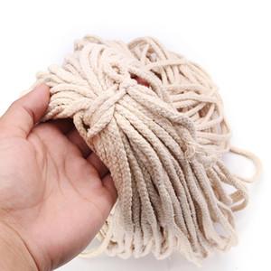 5Mmx100M Corde tressée coton torsadée Cordon Corde Diy Craft macramé tissé chaîne Accueil Textile Accessoires Artisanat Cadeaux