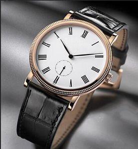 Top verkaufen rostfreie Uhren Mann Weibliche Uhr Lederband Hand mechanischen Uhr-Armbanduhr 0032