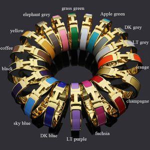 316L acciaio inossidabile punk 1,2 centimetri braccialetto di alta qualità per le donne e l'uomo in oro bracciale con gioielli di design dello smalto di trasporto ha placcato