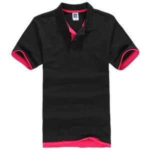 Designer polo camisas homens verão estilos homem polo homens ralph camisa de algodão plus size manga curta clássico sólidos topos