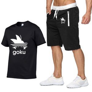 Anime Z T Camisas Hombres Casual Algodón Moda de Verano de Manga Corta Son Goku Harajuku HipHop Mans Camisetas pantalones traje