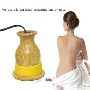 Yeni Yükseltme Meridian hurdaya Enerji Ölçer Seramik Sıcak Moxibustion Pot Masaj Gua Sha Kazıma Enstrüman Evde Kullanım alet