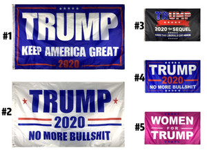 Fashion Trump 2020 Flag 90*150CM Support Oppose Donald Trump President Digital Print USA Election Home Party Decoration 9 styles